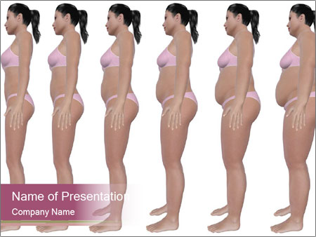 Obese woman's PowerPoint Templates