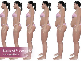 Obese woman's PowerPoint Template