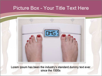 Obese woman's PowerPoint Templates - Slide 16