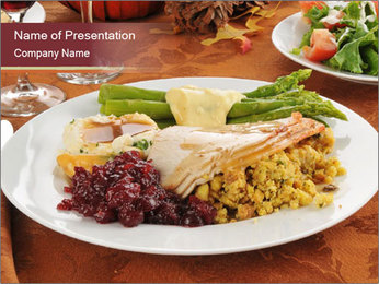 Turkey dinner PowerPoint Template