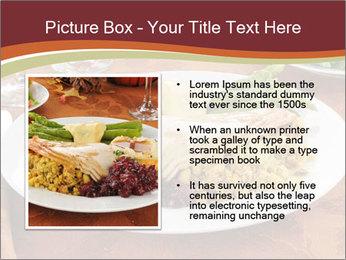 Turkey dinner PowerPoint Templates - Slide 13