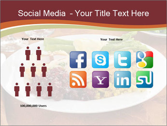 Turkey dinner PowerPoint Templates - Slide 5