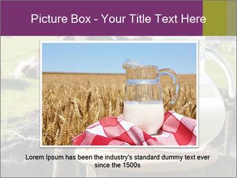 Milk on wooden plate PowerPoint Template - Slide 15