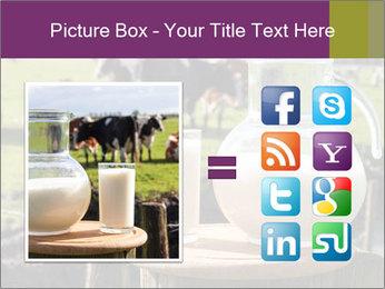 Milk on wooden plate PowerPoint Template - Slide 21
