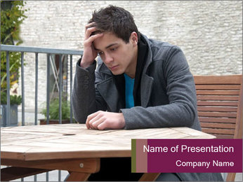 Guy waiting his girlfriend PowerPoint Template