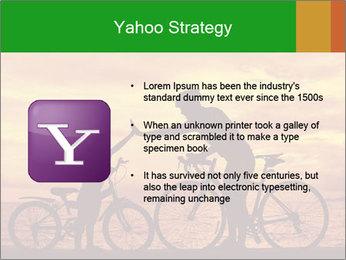 Biker family silhouette PowerPoint Templates - Slide 11