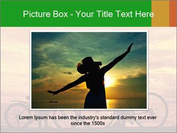 Biker family silhouette PowerPoint Templates - Slide 15