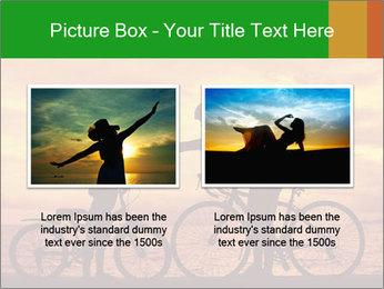 Biker family silhouette PowerPoint Templates - Slide 18