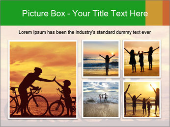 Biker family silhouette PowerPoint Templates - Slide 19