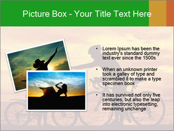 Biker family silhouette PowerPoint Templates - Slide 20