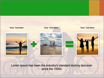 Biker family silhouette PowerPoint Templates - Slide 22