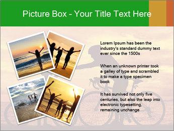 Biker family silhouette PowerPoint Templates - Slide 23
