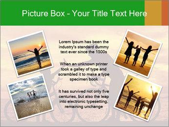 Biker family silhouette PowerPoint Templates - Slide 24