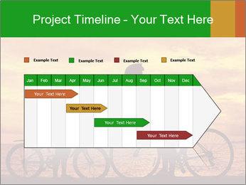 Biker family silhouette PowerPoint Templates - Slide 25