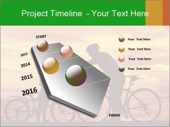 Biker family silhouette PowerPoint Templates - Slide 26