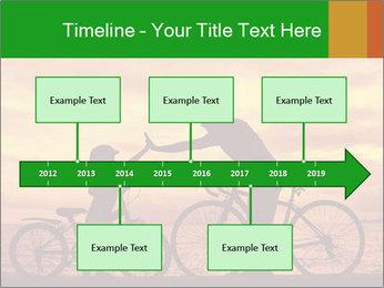 Biker family silhouette PowerPoint Templates - Slide 28