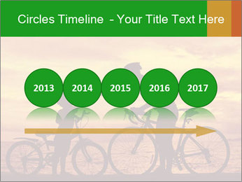 Biker family silhouette PowerPoint Templates - Slide 29