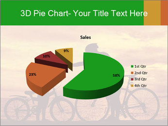 Biker family silhouette PowerPoint Templates - Slide 35