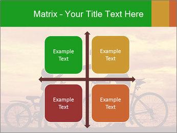 Biker family silhouette PowerPoint Templates - Slide 37