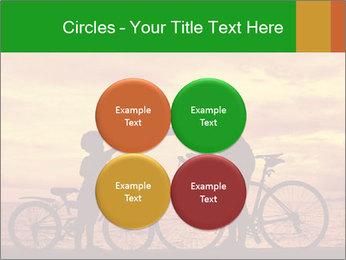 Biker family silhouette PowerPoint Templates - Slide 38