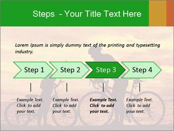 Biker family silhouette PowerPoint Templates - Slide 4