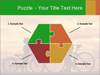 Biker family silhouette PowerPoint Templates - Slide 40
