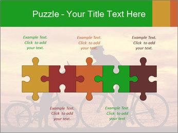 Biker family silhouette PowerPoint Templates - Slide 41