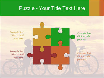 Biker family silhouette PowerPoint Templates - Slide 43