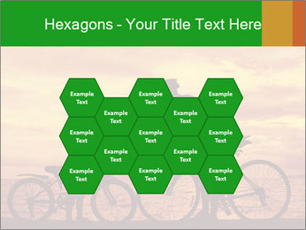 Biker family silhouette PowerPoint Templates - Slide 44