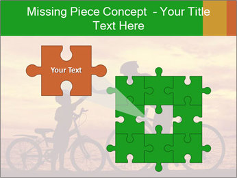 Biker family silhouette PowerPoint Templates - Slide 45