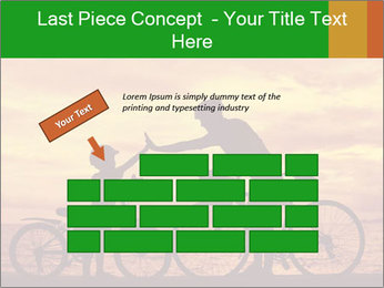 Biker family silhouette PowerPoint Templates - Slide 46