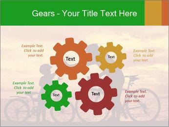 Biker family silhouette PowerPoint Templates - Slide 47