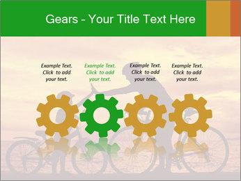 Biker family silhouette PowerPoint Templates - Slide 48