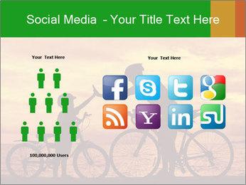 Biker family silhouette PowerPoint Templates - Slide 5
