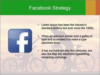 Biker family silhouette PowerPoint Templates - Slide 6
