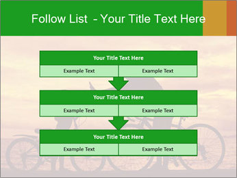 Biker family silhouette PowerPoint Templates - Slide 60