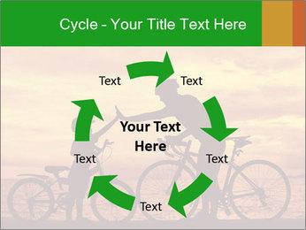 Biker family silhouette PowerPoint Templates - Slide 62