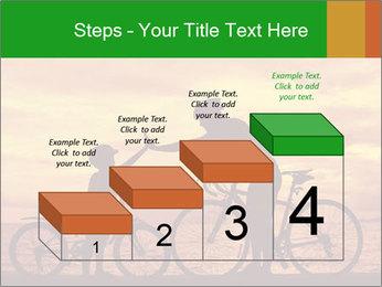 Biker family silhouette PowerPoint Templates - Slide 64