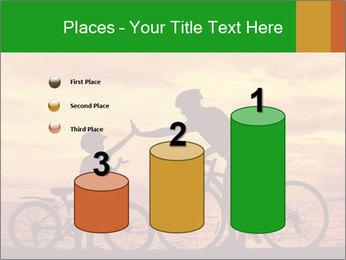 Biker family silhouette PowerPoint Templates - Slide 65