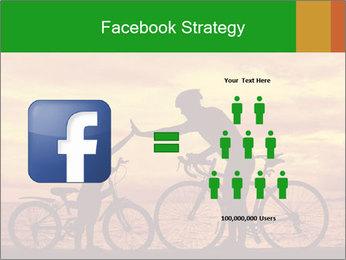 Biker family silhouette PowerPoint Templates - Slide 7