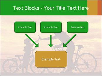 Biker family silhouette PowerPoint Templates - Slide 70
