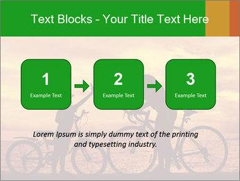 Biker family silhouette PowerPoint Templates - Slide 71