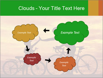 Biker family silhouette PowerPoint Templates - Slide 72