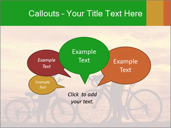 Biker family silhouette PowerPoint Templates - Slide 73