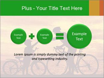 Biker family silhouette PowerPoint Templates - Slide 75