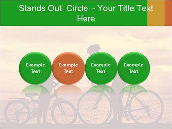 Biker family silhouette PowerPoint Templates - Slide 76