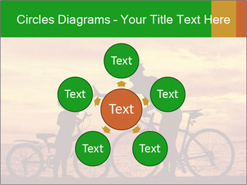 Biker family silhouette PowerPoint Templates - Slide 78