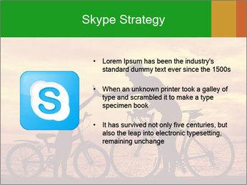 Biker family silhouette PowerPoint Templates - Slide 8