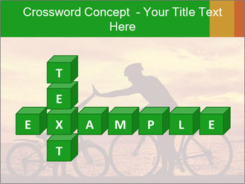 Biker family silhouette PowerPoint Templates - Slide 82