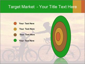 Biker family silhouette PowerPoint Templates - Slide 84